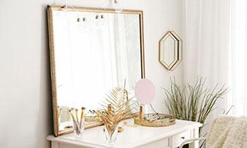 Cadre avec miroir