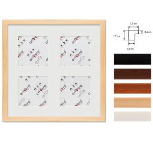 """Cadre galerie pour 4 photos """"Uppsala"""", 30x30 cm - 10x10 cm"""
