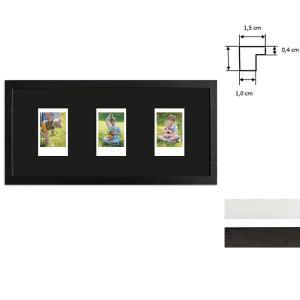 Cadre pour 3 photos immédiats - Typ Instax Mini