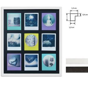 Cadre pour 9 photos immédiats - Typ Polaroid 600