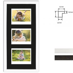 Cadre pour 3 photos immédiats - Typ Instax Wide
