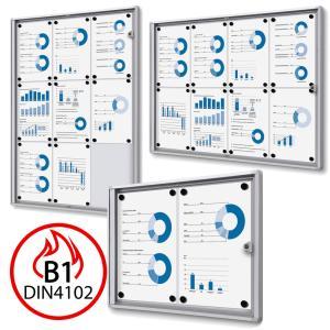 B1 vitrine protection contre le feu XS Economy pour l'usage à l'intérieur
