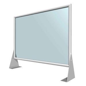 Système clic-clac pour vitre de protection anti-postillons