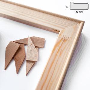 Baguettes châssis à clés 4,5x1,9 cm