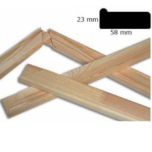Baguettes châssis à clés 5,8x2,3 cm sur mesure