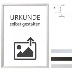 Cadre en aluminium Econ carré avec certificat individuel