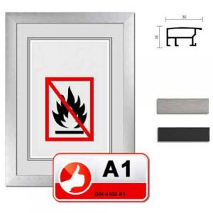 Cadre certifié ininflammable standard A1 Econ large