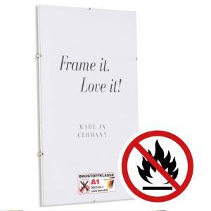 Cadre sans bordures certifié ininflammable standard classe A1