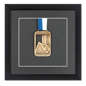 Cadre pour médailles 20x20 cm, noir