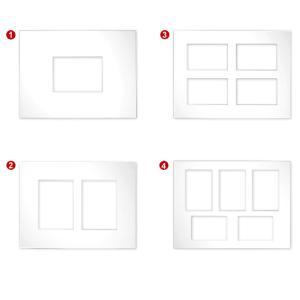 Passe-partout galeries 2,5 mm, taille extérieure 30x40