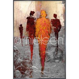 """Image encadrée """"Abstract Figures Red"""" avec cadre en aluminium Alpha"""