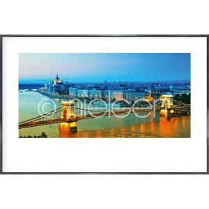 "Image encadrée ""Budapest"" avec cadre en aluminium Alpha"