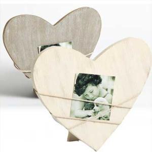 Cadre pour portrait Bella 2, forme de coeur gris