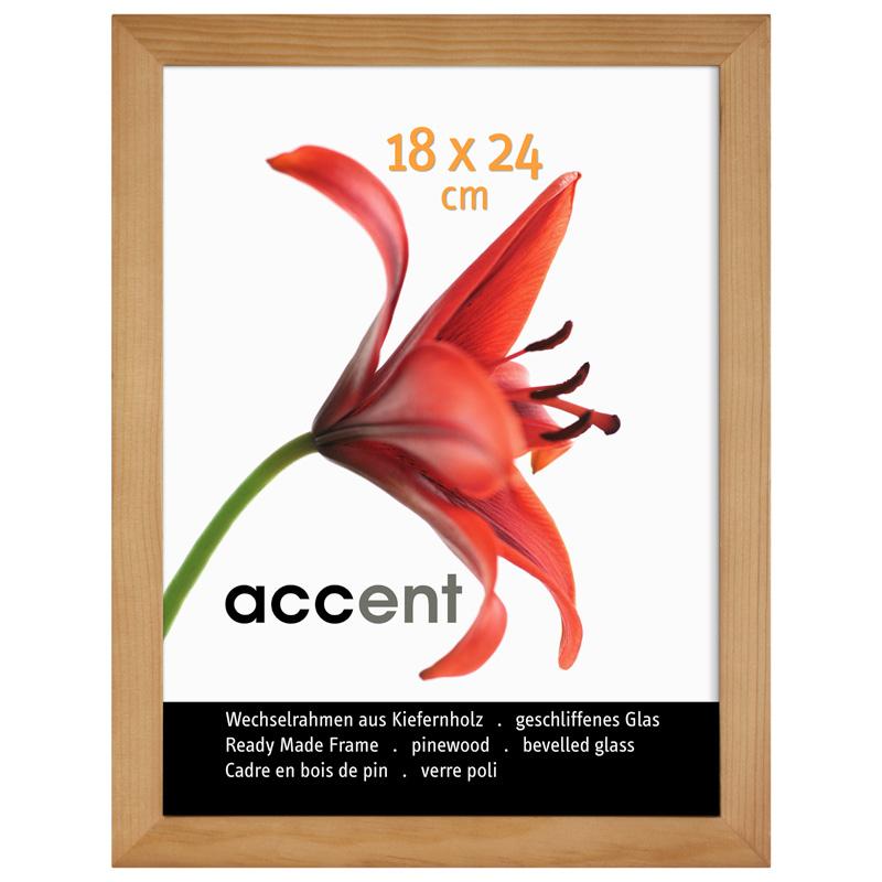 Cadre en bois amovible Wood 60x80 cm | naturel | verre standard