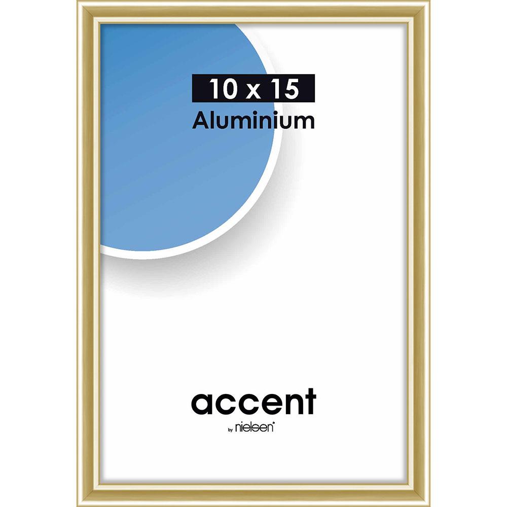 Cadre en aluminium Accent 10x15 cm | or brillant | verre normal