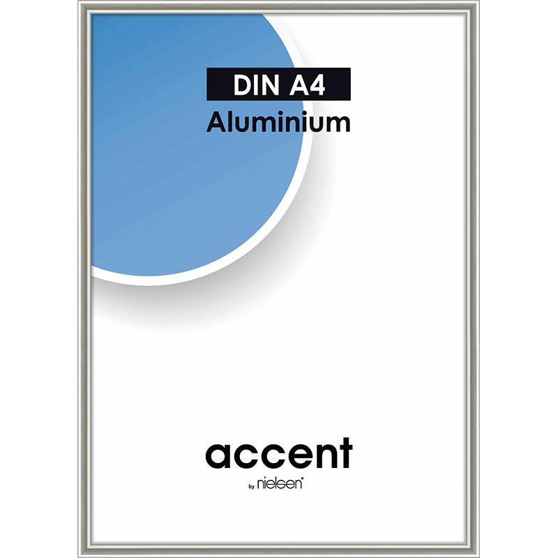 Cadre en aluminium Accent 30x40 cm | perle mercure | verre normal