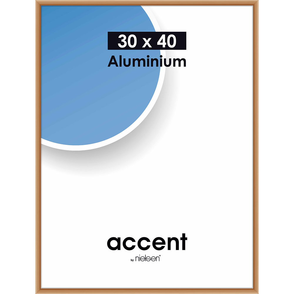 Cadre en aluminium Accent 30x40 cm | cuivre mat | verre normal