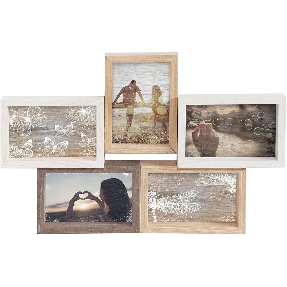 Cadre collage pour 5 photos Mixed Colours