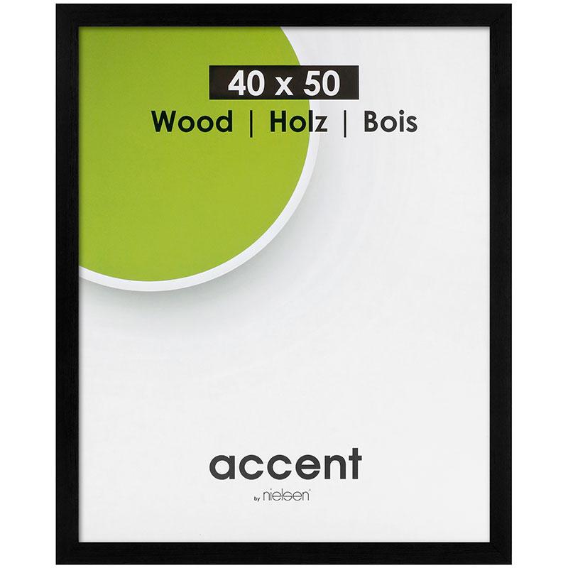 Cadre en bois amovible Magic 30x40 cm | noir | verre normal