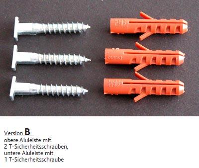 Fermeture anti-vol pour cadre en aluminium - version B
