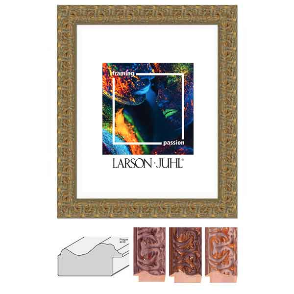 aicham larson juhl cadre baroque prague fin 5 2. Black Bedroom Furniture Sets. Home Design Ideas