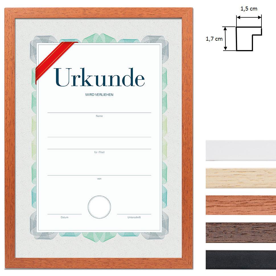 artvera bilderrahmen cadre en bois pour certificat din a4. Black Bedroom Furniture Sets. Home Design Ideas