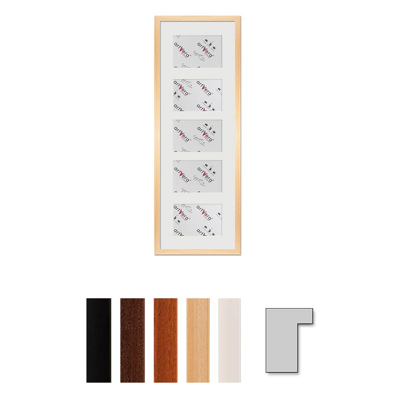 """Cadre galerie pour 5 photos """"Lund"""", 23x70 cm - 10x15 cm"""