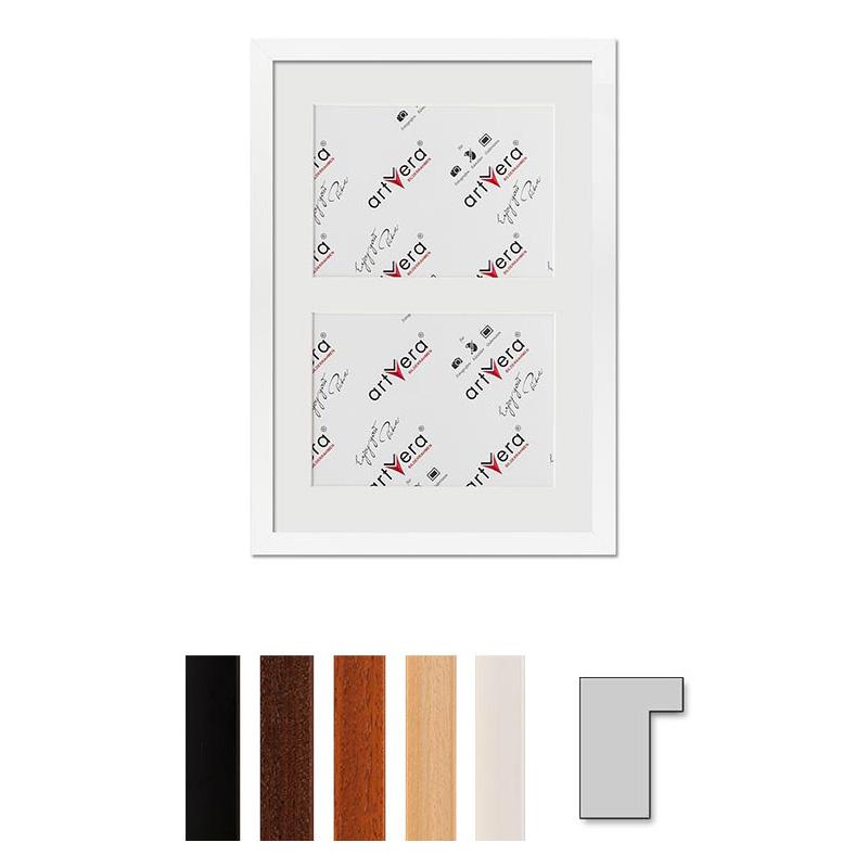 """Cadre galerie pour 2 photos """"Lund"""", 25x35 cm - 13x18 cm"""