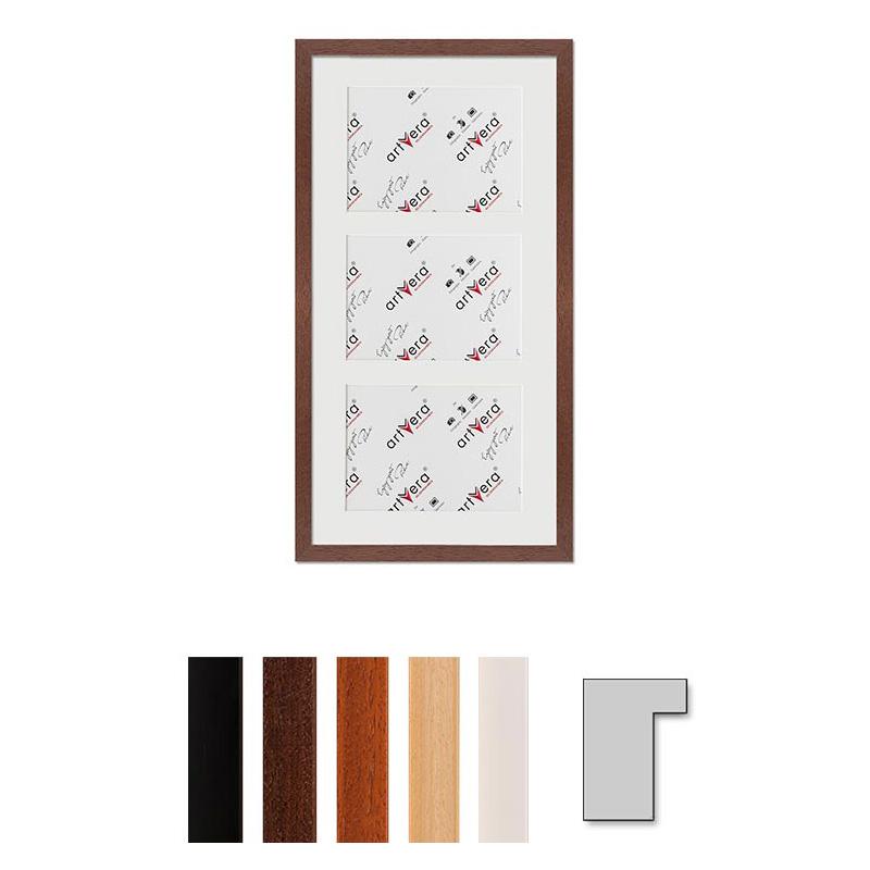 artvera bilderrahmen cadre galerie pour 3 photos lund 25x50 cm 13x18 cm. Black Bedroom Furniture Sets. Home Design Ideas