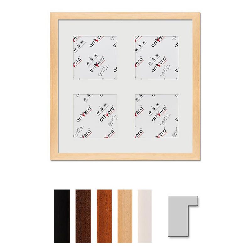 """Cadre galerie pour 4 photos """"Lund"""", 30x30 cm - 10x10 cm"""