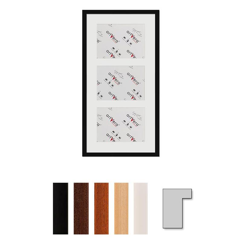 """Cadre galerie pour 3 photos """"Lund"""", 30x60 cm - 15x20 cm"""