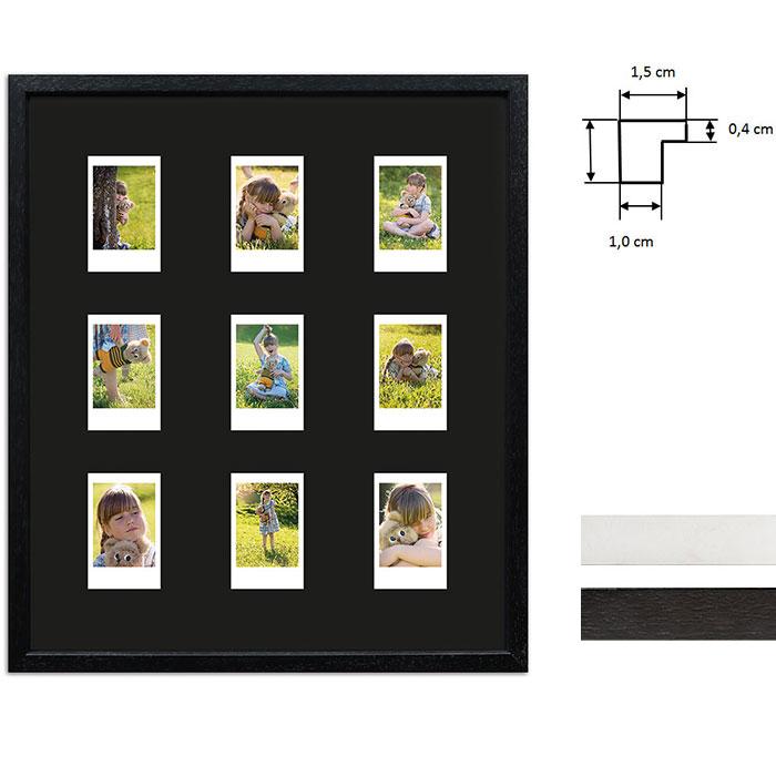 Cadre pour 9 photos immédiats - Typ Instax Mini