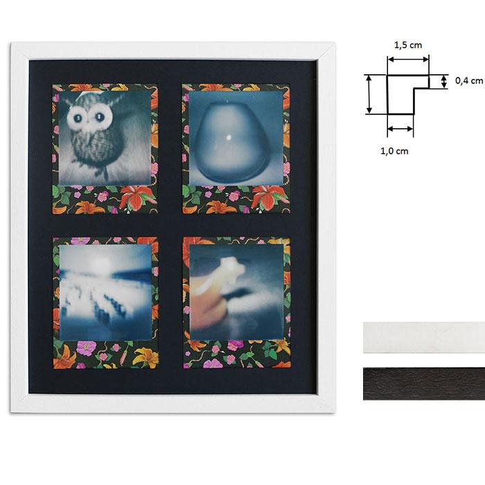 Cadre pour 4 photos immédiats - Typ Polaroid 600