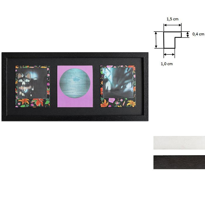Cadre pour 3 photos immédiats - Typ Polaroid 600