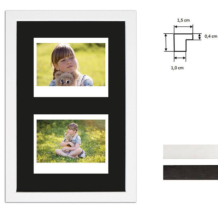 Cadre pour 2 photos immédiats - Typ Instax Wide