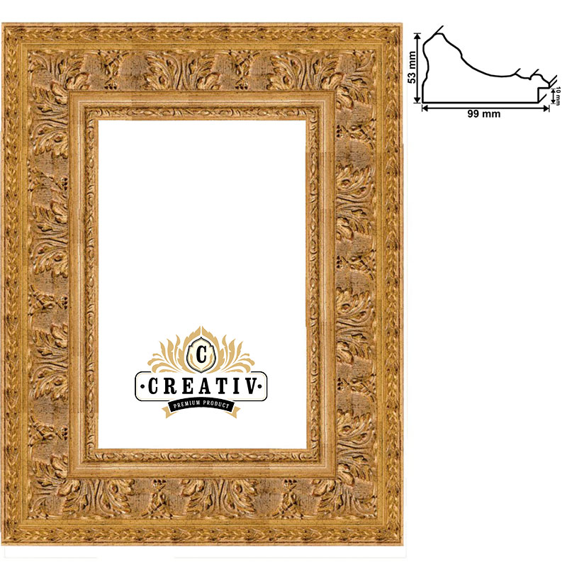 cadre baroque en bois massif Grosseto sur mesure