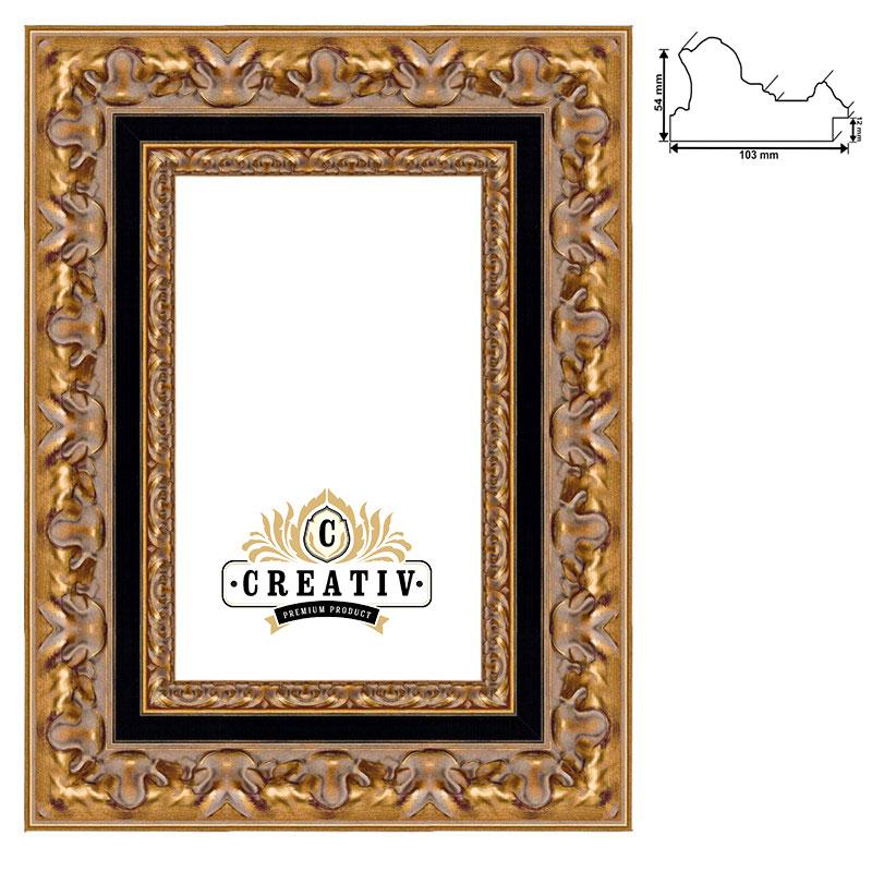 cadre baroque en bois massif Vigevano sur mesure