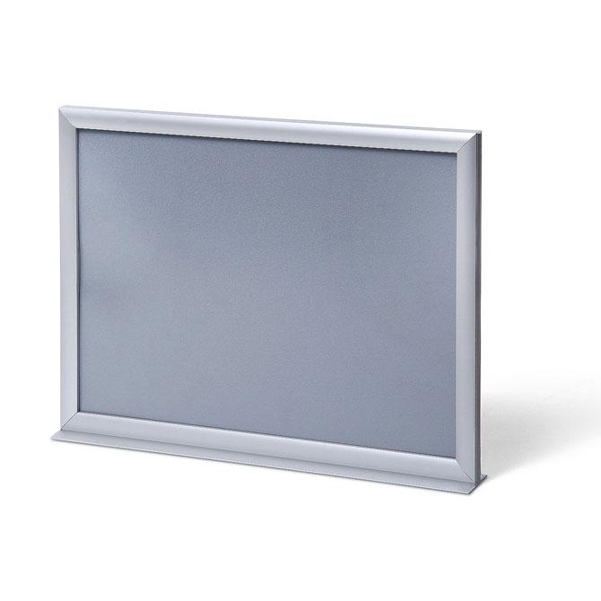 Présentoir bilatéral 29x42 cm (A3) | aluminium | film antireflet