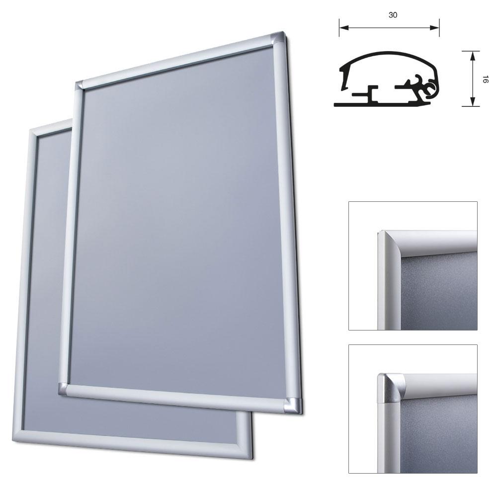 display cadre pliant 30 mm 29 7x42 cm a3 coins sur onglet film antireflet. Black Bedroom Furniture Sets. Home Design Ideas