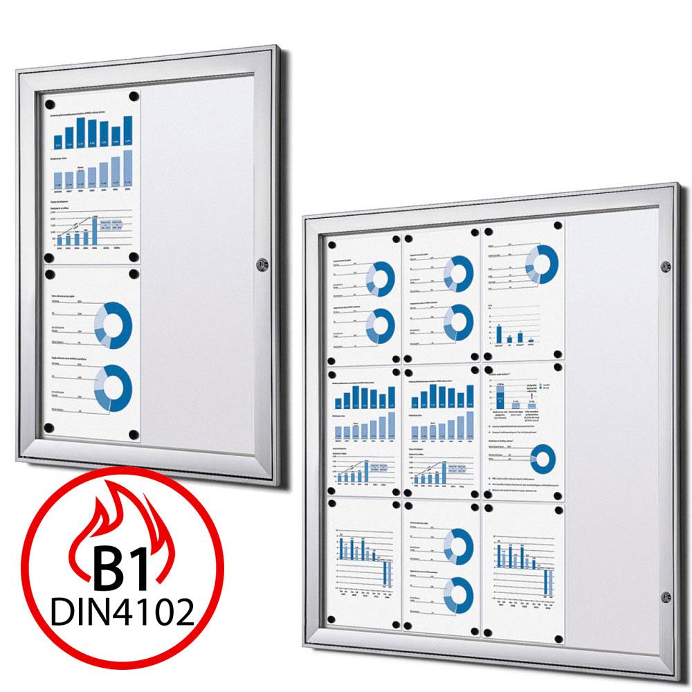 B1 vitrine protection contre le feu S pour l'usage à l'extérieur