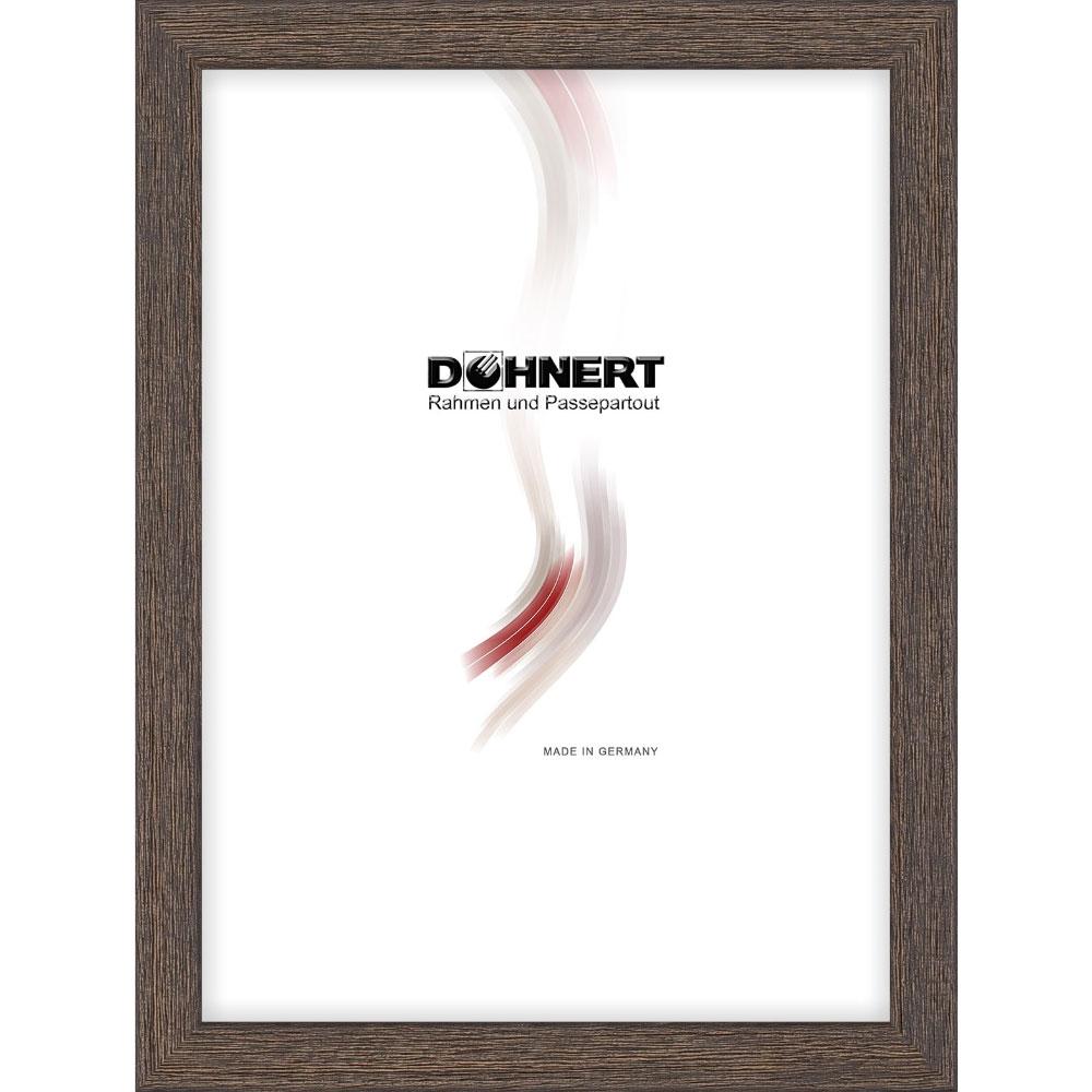 doehnert cadre en bois bermondsey 50x70 cm brun gris verre normal. Black Bedroom Furniture Sets. Home Design Ideas