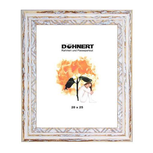 doehnert cadre en bois leytonstone 50x60 cm blanc verre normal. Black Bedroom Furniture Sets. Home Design Ideas