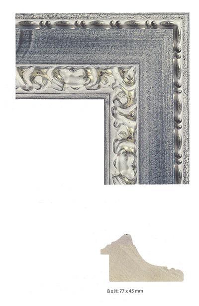 fdm cadre en bois exclusif chaval 40x60 cm argentin sur bleu verre antireflet. Black Bedroom Furniture Sets. Home Design Ideas