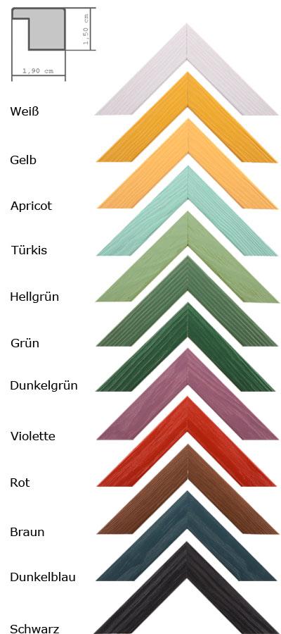 cadre en bois Boti 21x29,7 (A4) | rouge | verre ordinaire