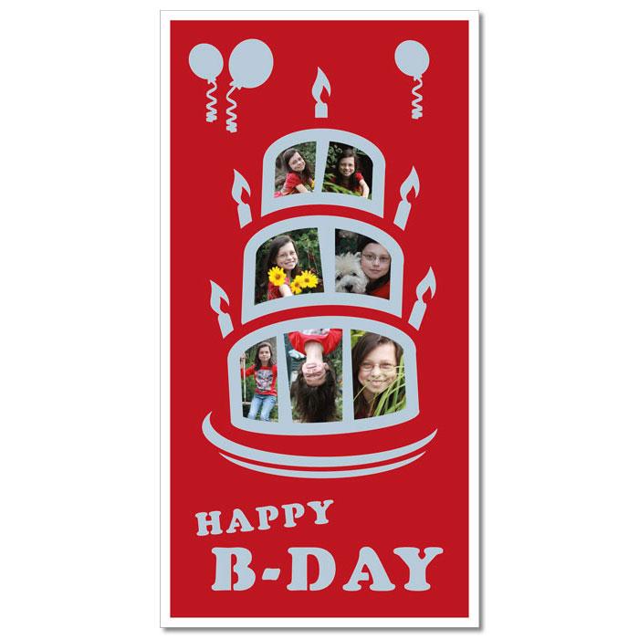 """Passe-partout à thème """"gâteau d'anniversaire"""""""