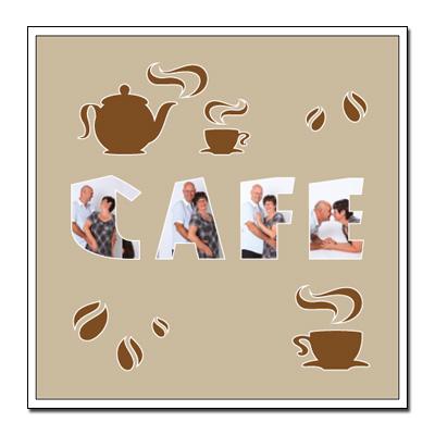 """Passe-partout à thème """"café"""""""