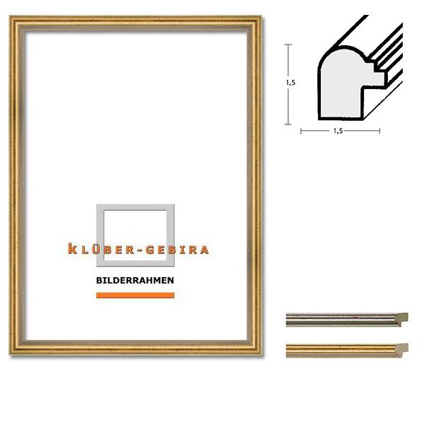 Cadre en bois Barrameda 20x30 cm | argent, rayes noires | verre standard