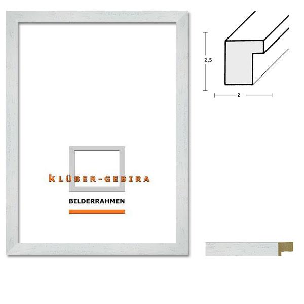 Cadre en bois Tias 20x30 cm | baguette, blanche | verre standard