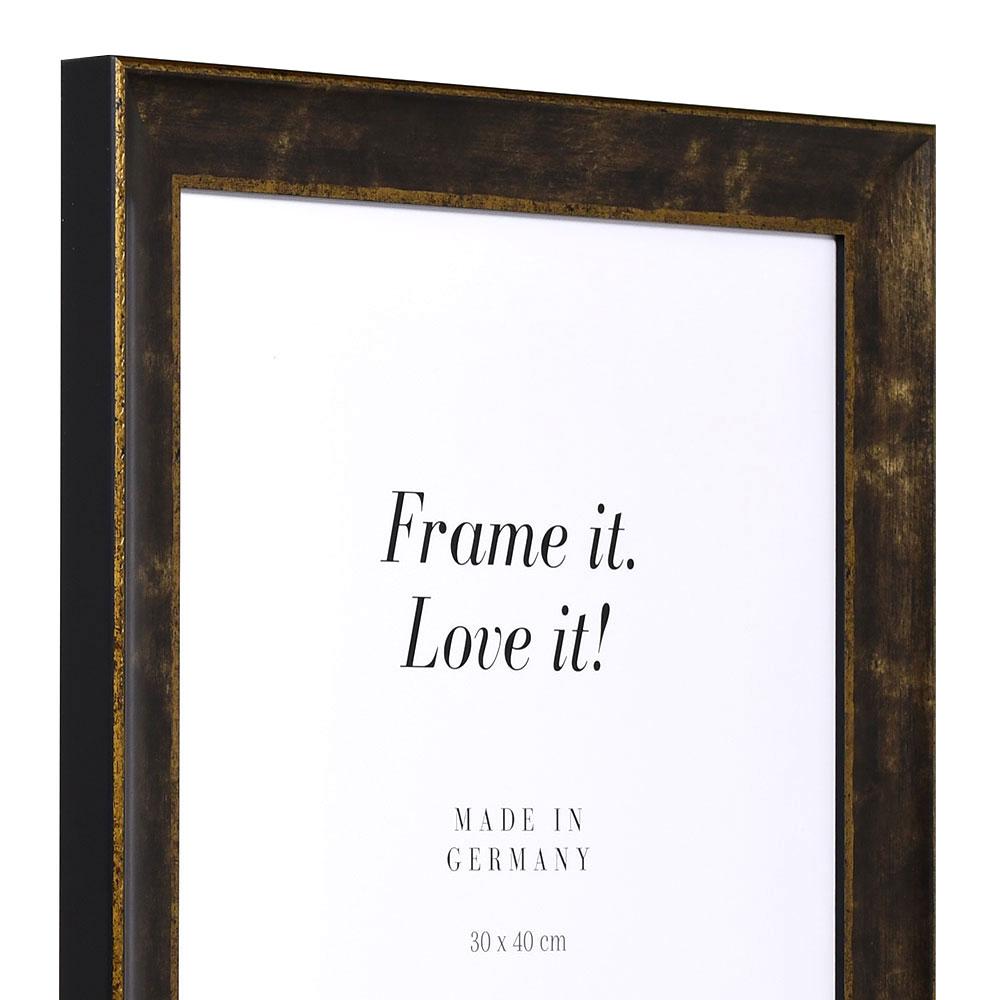Cadre de style baroque Poher 18x24 cm | noir | verre standard