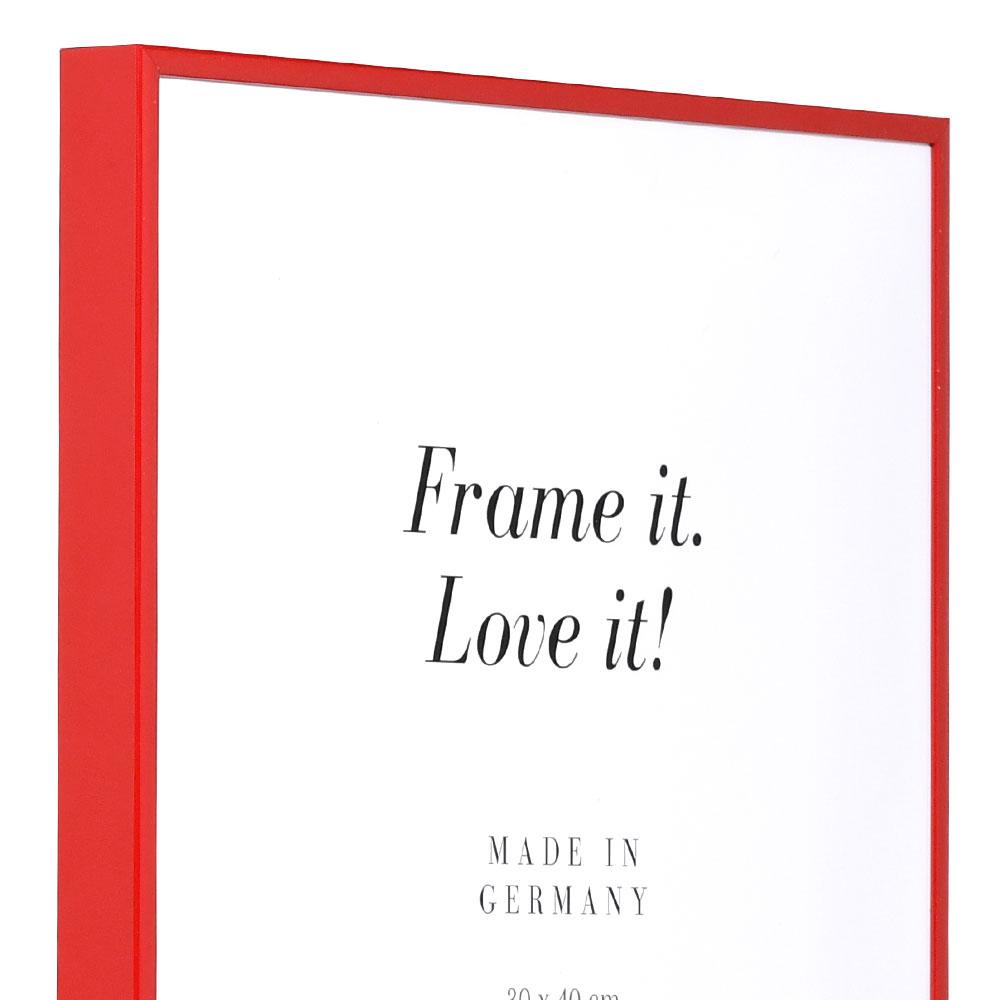 mira cadre en aluminium quadro 18x24 cm rouge ral 3002. Black Bedroom Furniture Sets. Home Design Ideas